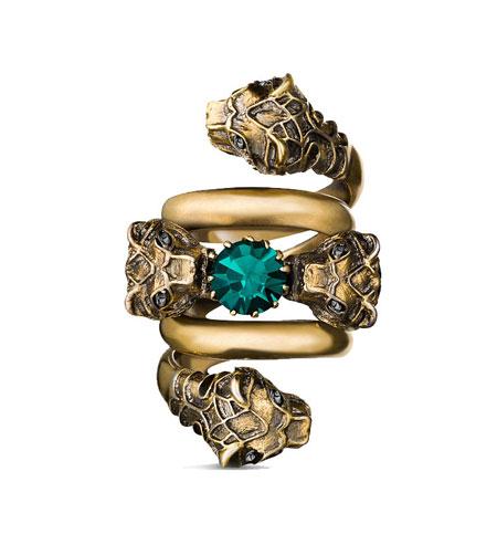 Gold-plated Swarovski ring