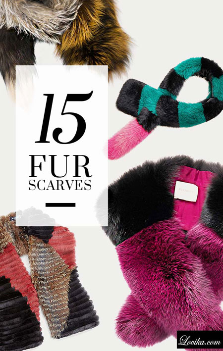 luxury designer fur scarves