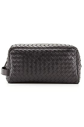 BOTTEGA VENETA INTRECCIATO LEATHER TOILETRY BAG