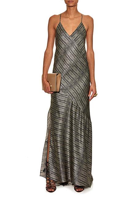 L'Agence-Romy-cobra-print-silk-dress
