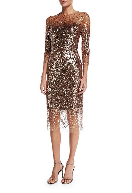 Monique-Lhuillier-Sequined-Ombre-Illusion-Dress