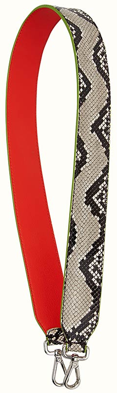 fendi strap you itnerchangeable python skin shuolder guitar strap