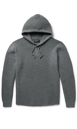 Beams Plus Waffle-Knit Cotton-Blend Hoodie
