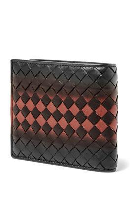 Bottega Veneta Shadow Intrecciato Leather Billfold Wallet