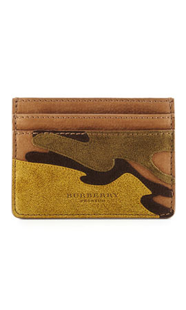 Burberry Camouflage Leather Card Case