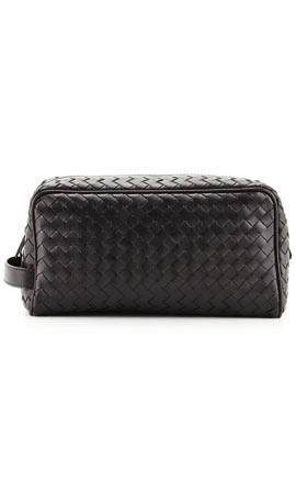 Bottega Veneta Woven Leather Dopp Kit