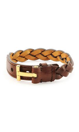 TOM FORD Nashville Braided Leather Bracelet