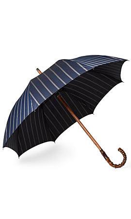 Francesco Maglia Striped Bamboo-Handle Umbrella