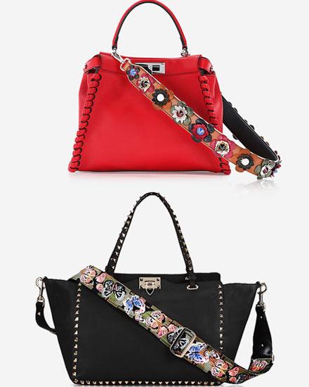 LOVIKA | Handbag guitar straps Fendi vs Valentino