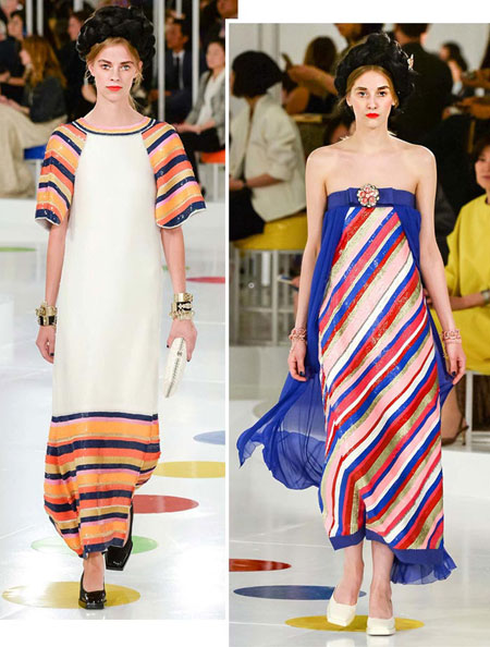 chanel resort 2016 collection stripes