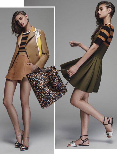 2016 resort fashion trend stripes fendi