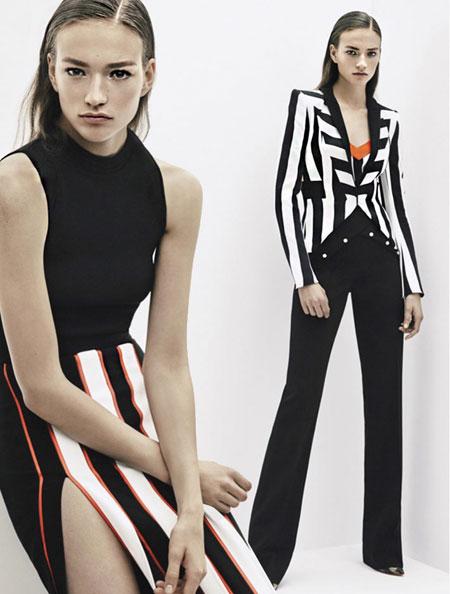mugler stripes