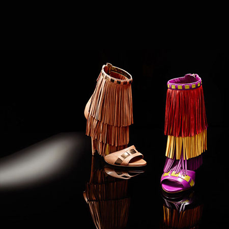 Brian Atwood 2016 Resort Collection Fringe Shoes