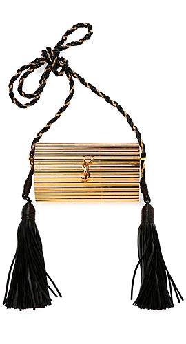 Opium Plexiglass Tassel Minaudiere Bag