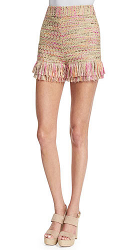 Ray Tiered-Fringe Jute Shorts