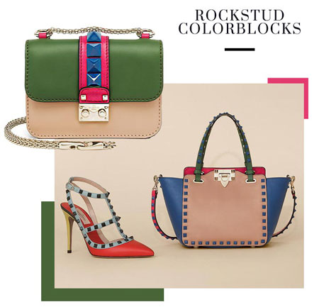 valentino resort 2016 rockstud color blocks