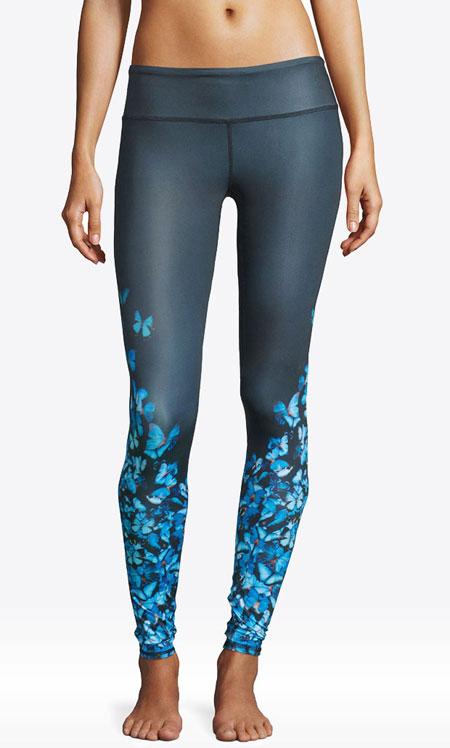 Alo Yoga Airbrush Butterfly-Print High-Waisted Sport Leggings