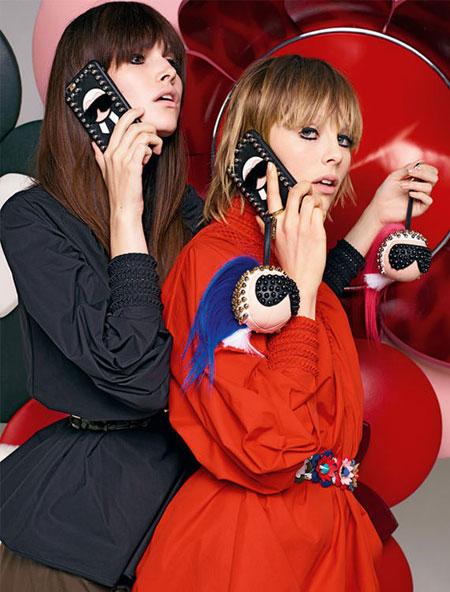 Fendi Karl Fur-Trimmed iPhone 6 Case Ad Campaign
