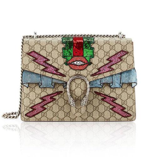 Gucci Dionysus Embroidered Supreme GG Shoulder Bag