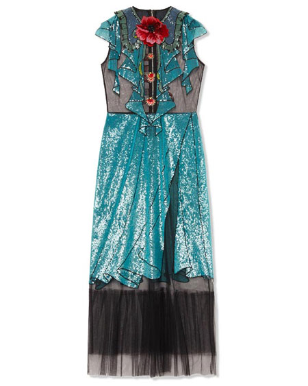 Gucci Embroidered Tulle Dress