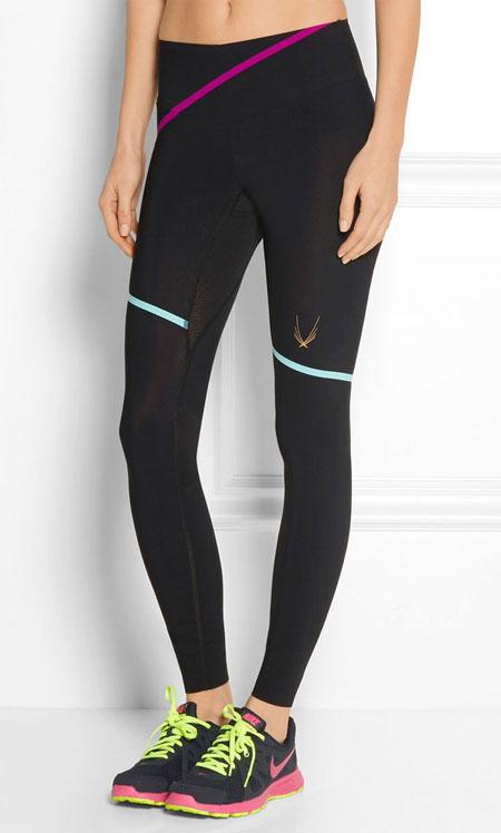 Lucas Hugh Lazer Stripe stretch-jersey leggings