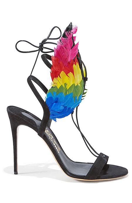 Ferragamo By Edgardo Osorio Dream Wing Suede Sandals