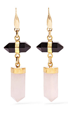 Isabel Marant Santa gold-tone, agate and quartz earrings