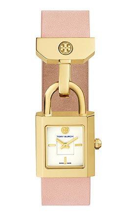 Tory Burch Surrey Leather Padlock Watch