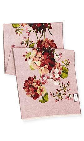 Gucci Orophin Floral Wool Scarf