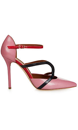 Malone Souliers Veronica point-toe leather pumps