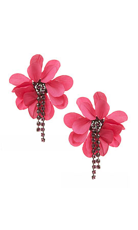 Lanvin Floral-embellished earrings