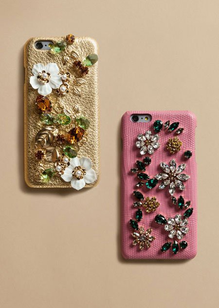 dolce and gabbana embellished iphone cases