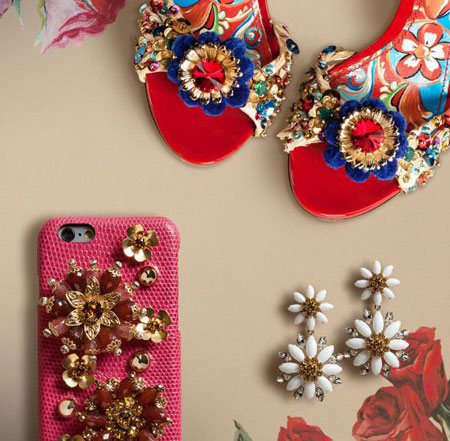 dolce and gabbana pink embellished iphone case