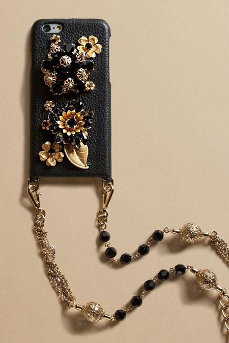Dolce and Gabbana iphone case with chain strap