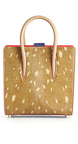 Christian Louboutin Paloma Small Spotted Calf Hair Tote
