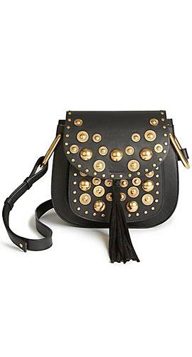 Chloé Hudson Small Studded Leather Crossbody Bag