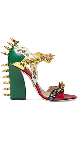 Gucci Malin Studded Leather Sandal