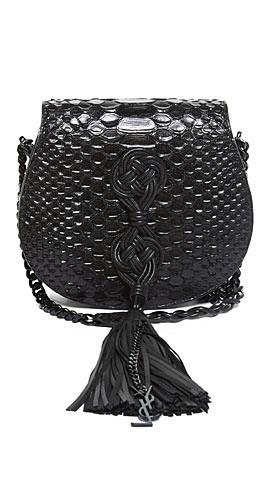 Saint Laurent Passementerie python-effect cross-body bag