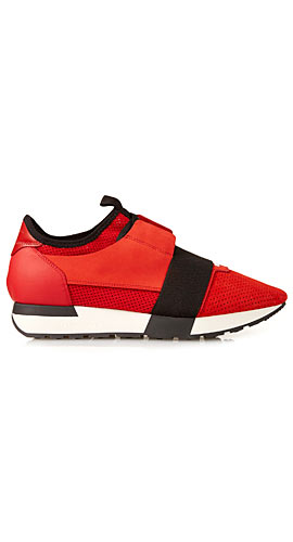 Balenciaga Race multi-panel low-top trainers