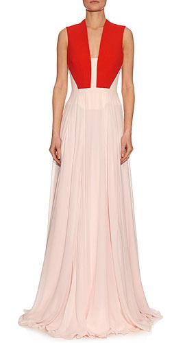 Antonio Berardi Contrast-panelled silk-cady dress