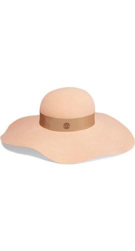 Maison Michel Lucia wide-brim rabbit-felt hat