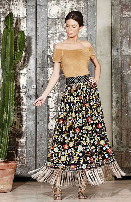 how to wear off the shoulder top - pattern play maxi skirt