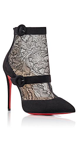 Christian Louboutin Boteroboot Lace/Suede Red Sole Boot