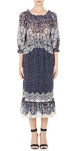 Saloni Elisa Peasant Maxi Dress