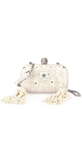 Alexander McQueen Classic Embroidered Skull Clutch Bag