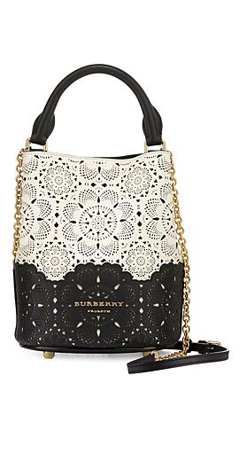 Burberry Small Laser-Cut Bucket Bag