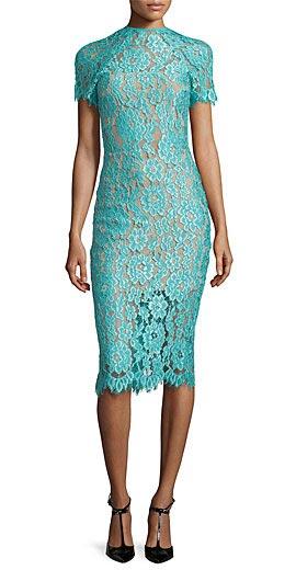 Alexis Leona Short-Sleeve Lace Sheath Dress
