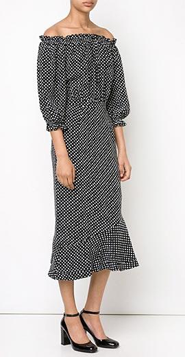 SALONI 'Grace' off-the-shoulder dress
