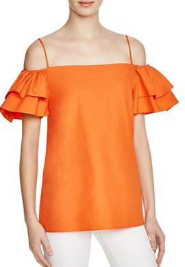 Alice and Olivia Loryn Off The Shoulder Top