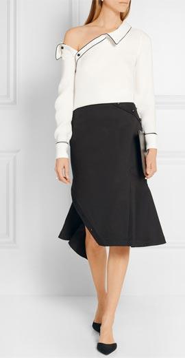 MONSE Silk-georgette blouse